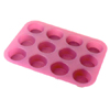 Silicone 12 cup  muffin cake mould SP1307